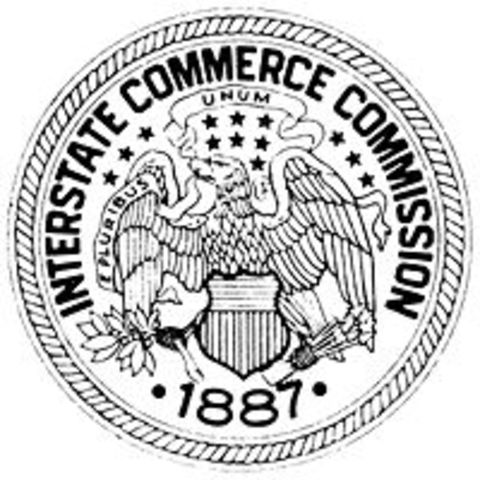 Interstate Commerce Act approved by congress on Febuary 4th, 1887