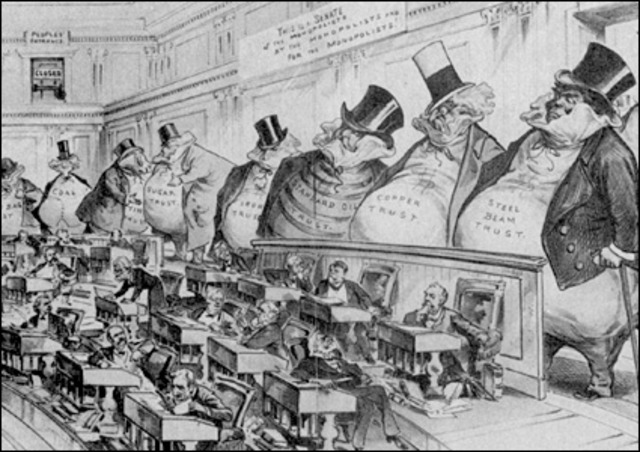 Monopolies banned forever by new Sherman Antitrust act!