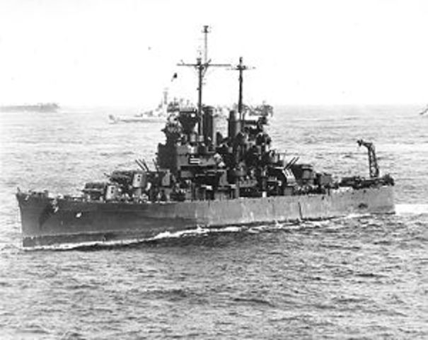 USS Santa Fe Luanched