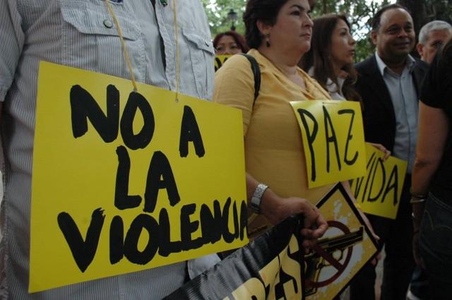 protesta contra la violencia
