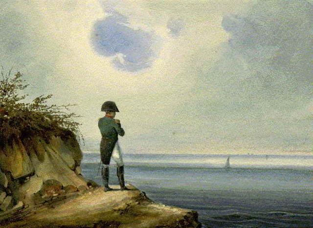 il definitivo  esilio  e la morte   a Sant'Elena  in  una isoletta dell'Atlantico.