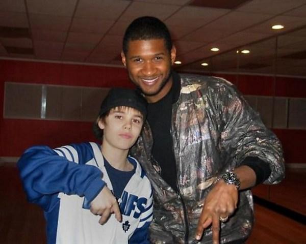Justin bieber conoce a su idolo Usher