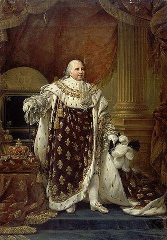 """La pace restaurata """" luigi XVIII prende il possesso del trono che fu di suo fratello"""