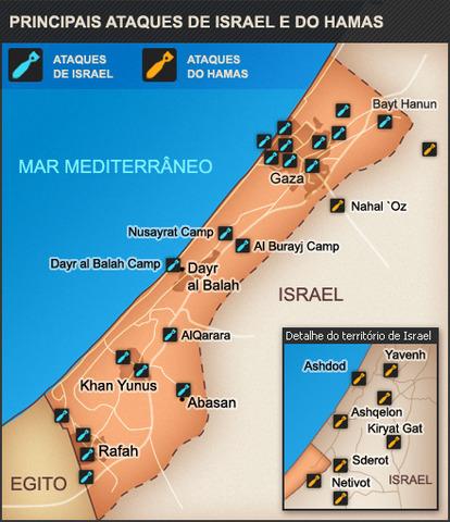 Localização - Faixa de Gaza