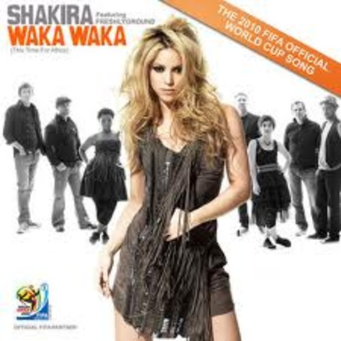Shakira makes a song for the 2010 World Cup