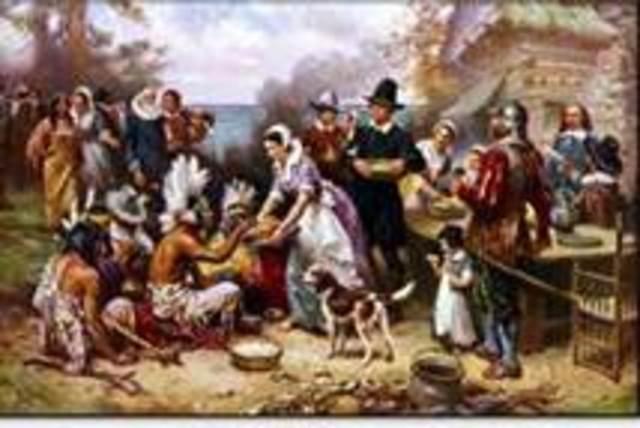 Pilgrims settle in what is now Massachusetts