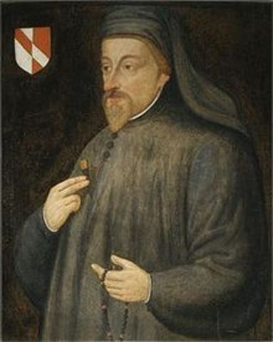 Chaucer begins to write The Canterbury Tales