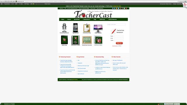 New TeacherCast Homepage and TC Univ Unveiled at NJAET