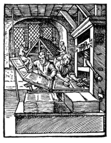 First Printing Press set up in the Colonies