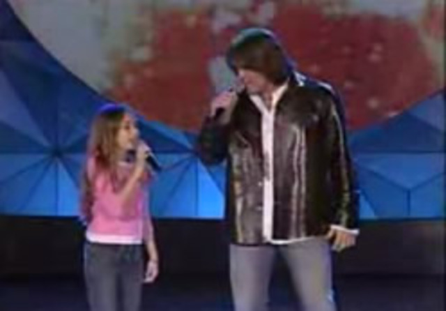 First performed on stage with her dad