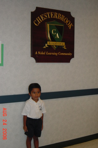 I started school at Chesterbrook Academy