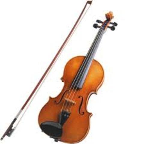 I started learning violin