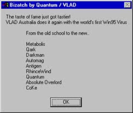 Первый вирус для Windows 95