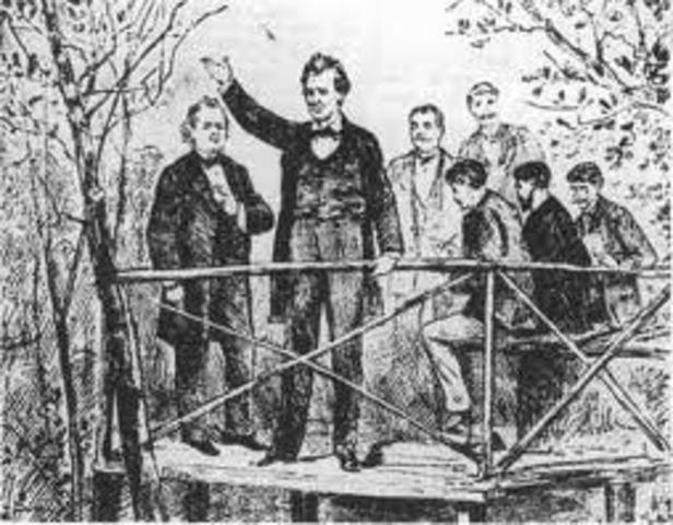 Abraham Lincoln and Douglas Debates of 1858