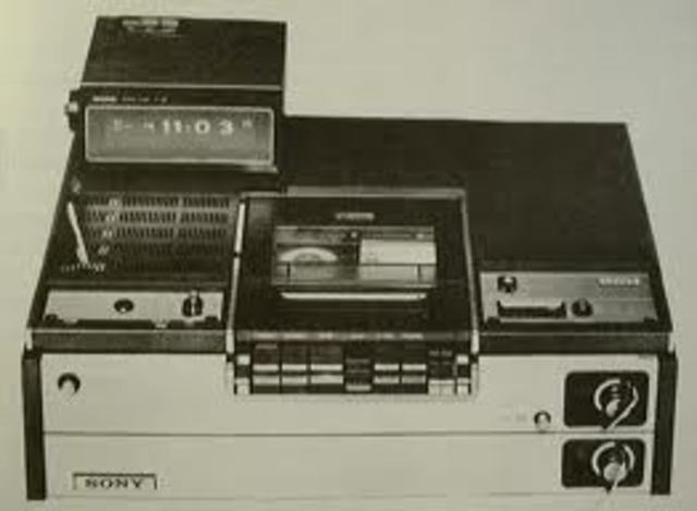 first video cassette recorder was sold by sony