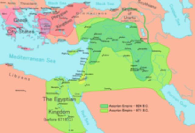 Expansión del imperio asirio