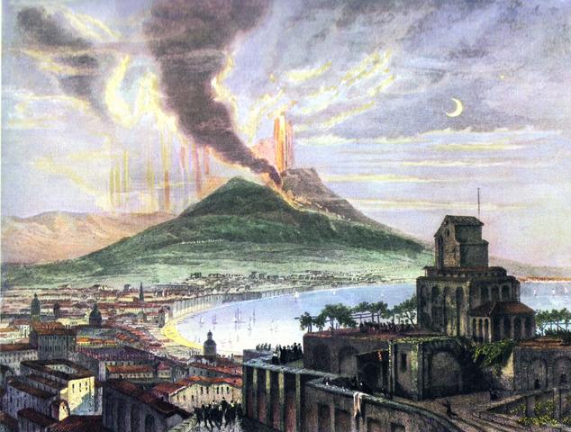 79 AD Mount Vesuvius Erupts