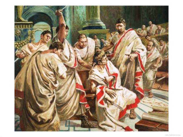 44 BC Julius Caesar is Assassinated