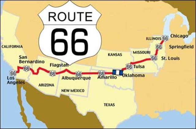 Route 66 is completed