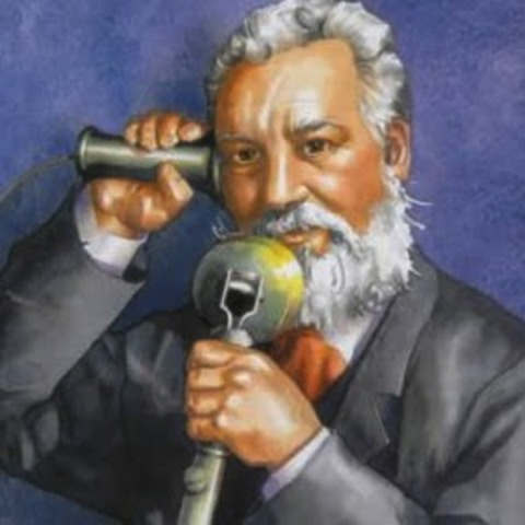 The invention and race Between telephone inventor Alexander Graham Bell and inventor Elisha Gray .(1847 to 1922)
