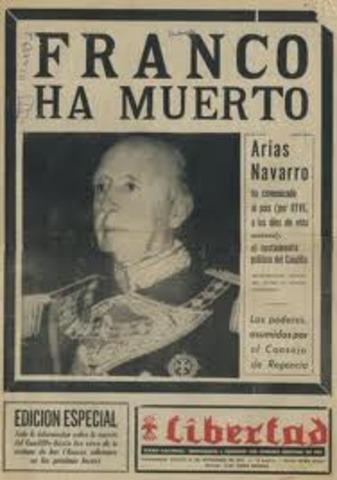 Francisco Franco fallece