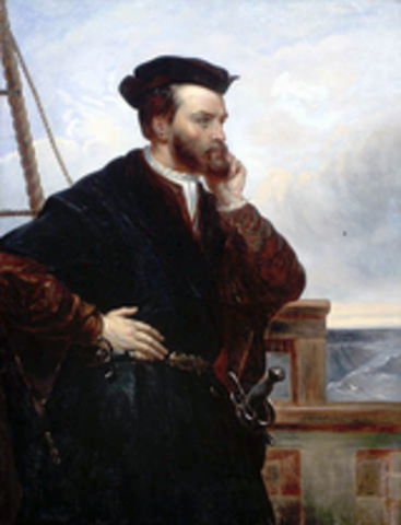 Jacques Cartier's second voyage to Canada.