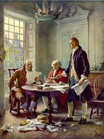 Declaration of Independance is sent to the King by the 13 colonies.