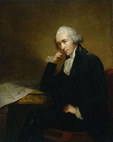 Steam power is invented by James Watt