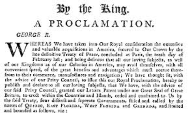 Proclatation Of 1763