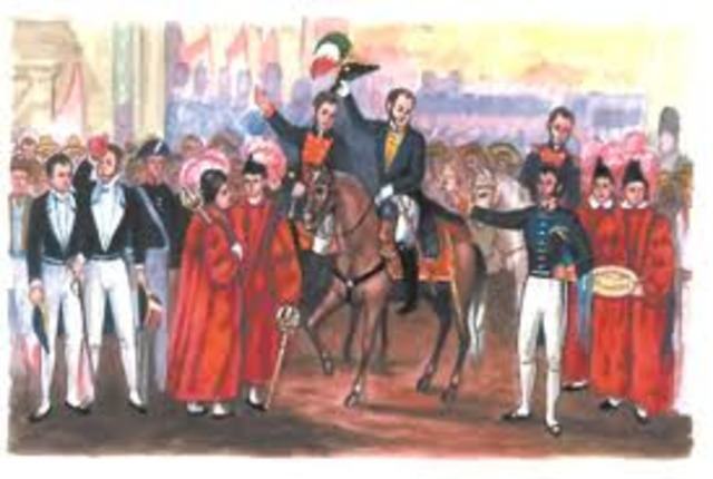 Entrada del Ejército Trigarante a la ciudad de México.