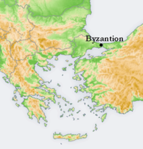 657 BC Byzantium is Founded