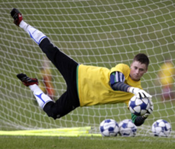 Training to become a goalkeeper