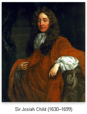JOSIAH CHILD   (1630 - 1699)