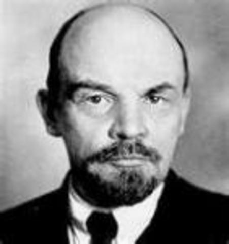 Lenin Vladímir Ilich Uliánov (22/04/1870 - 21/01/1924)