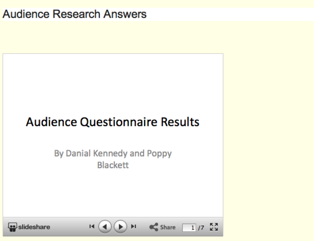 Audience Research Questions Answers