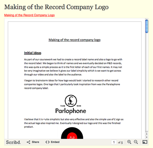Making of the Record Label Logo