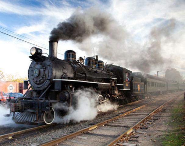 Steam powered locomotives - in Canada