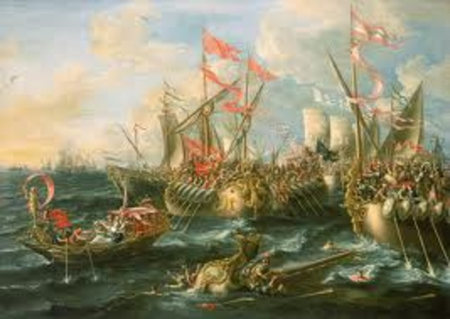 Battle of Aegates Islands and First Punic War ends 241 BC