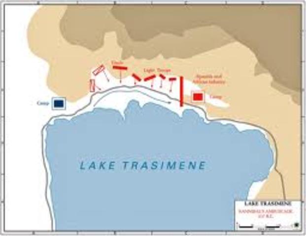 Battle of Lake Trasimene and Battle of Geranium 217 BC