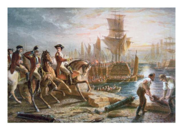 British Evacuate Boston