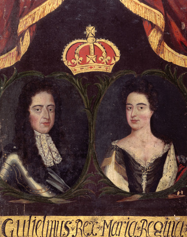 New King and Queen: Queen Mary and King William of Orange
