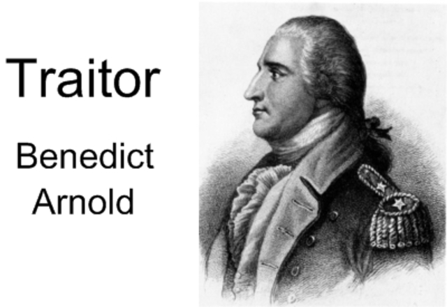 Benedict Arnold Plans Found Out