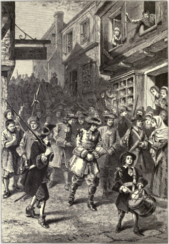 Rebellion in Boston against Dominion of New England