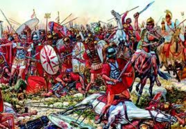 Carthaginian forces defeat two Roman armies 211 BC