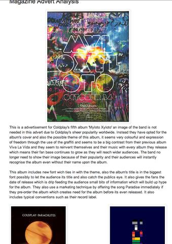 Danial's Magazine Advert Analysis