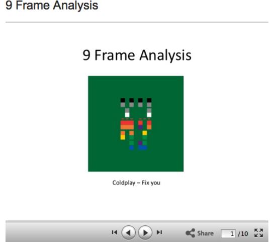Danial's 9 Frame Task