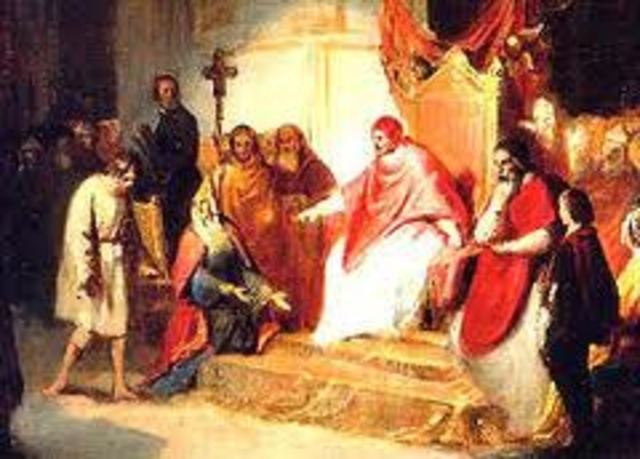 Henry VI Journeyed Through the Alps to Canossa, Italy