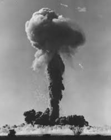 Nuclear bomb test sucess