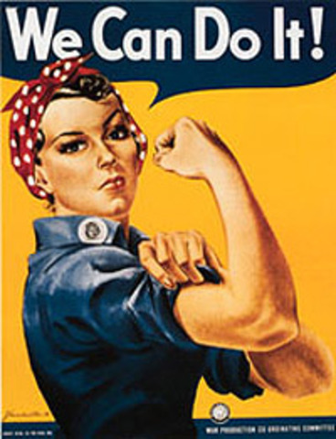 """Rosie the Riveter"" Pictorial Representation"