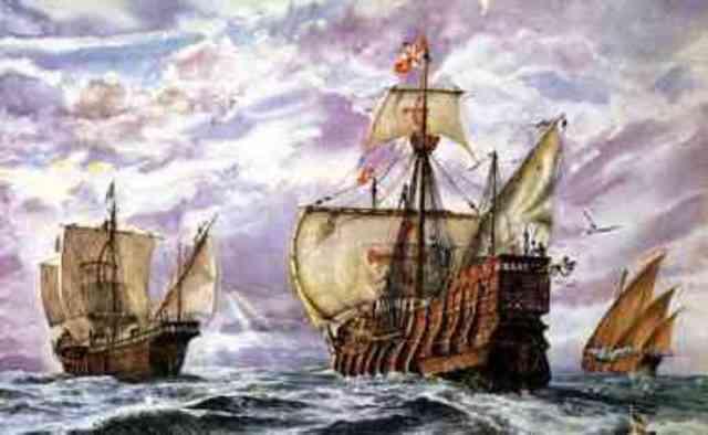 Christopher Columbus sets sail